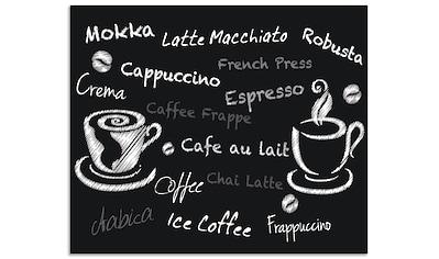 """Artland Küchenrückwand """"Kaffee. Designelemente auf einer Tafel"""", (1 - tlg.) kaufen"""