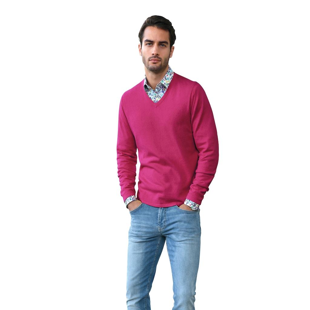 Louis Sayn Strickpullover »V-Pullover«, mit Kaschmir