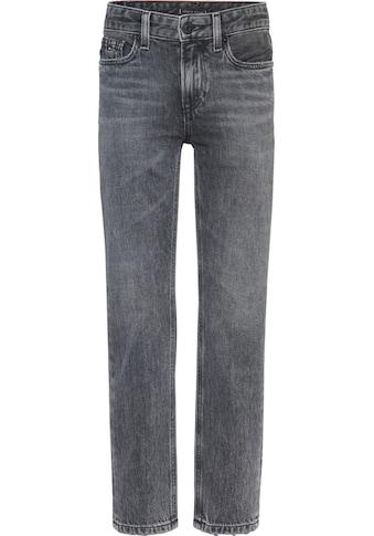 TOMMY HILFIGER Stretch-Jeans, mit Logo-Badge am Bund kaufen