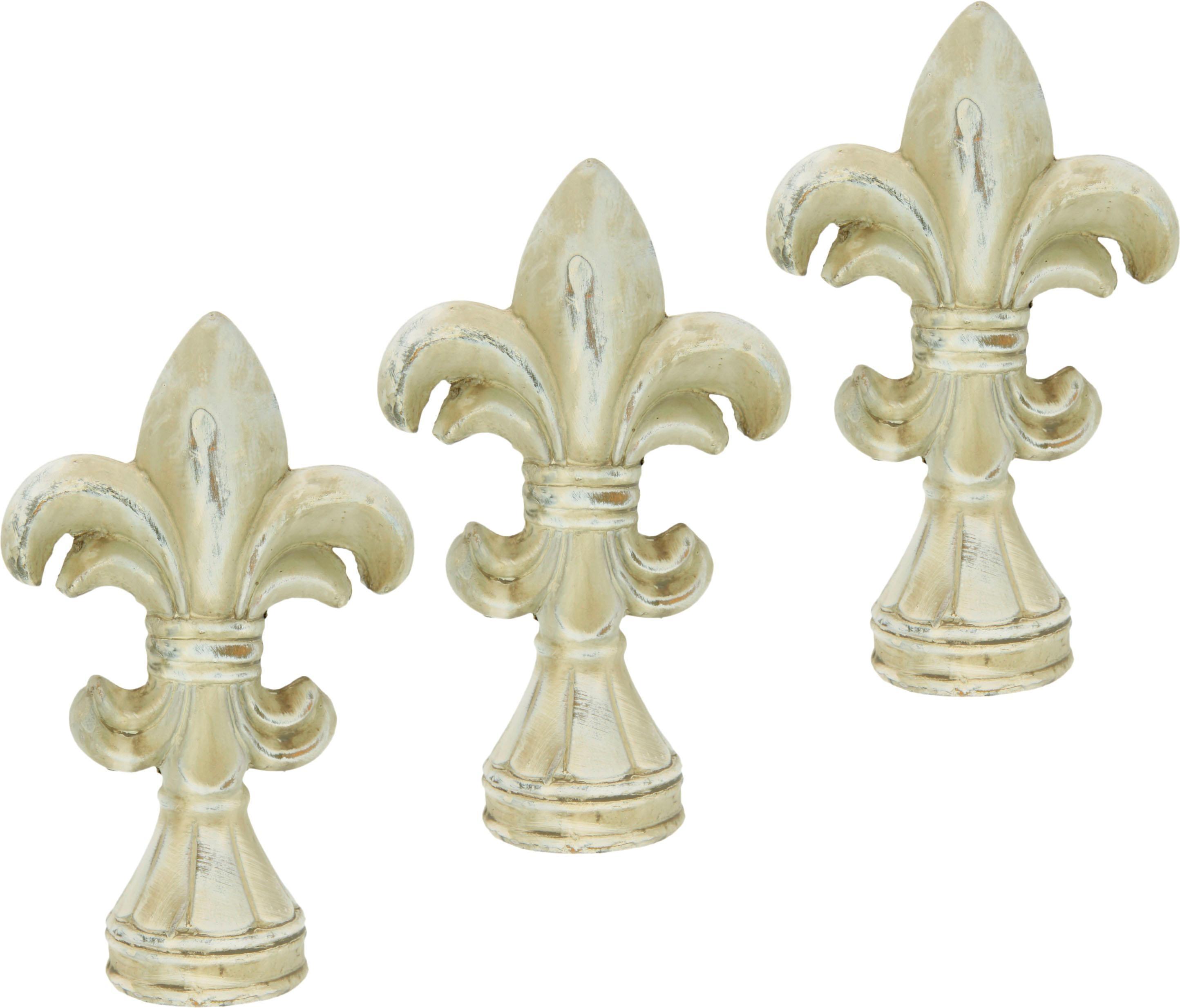 I.GE.A. Dekofigur, Französische Lilie (3er Set) beige Dekofigur