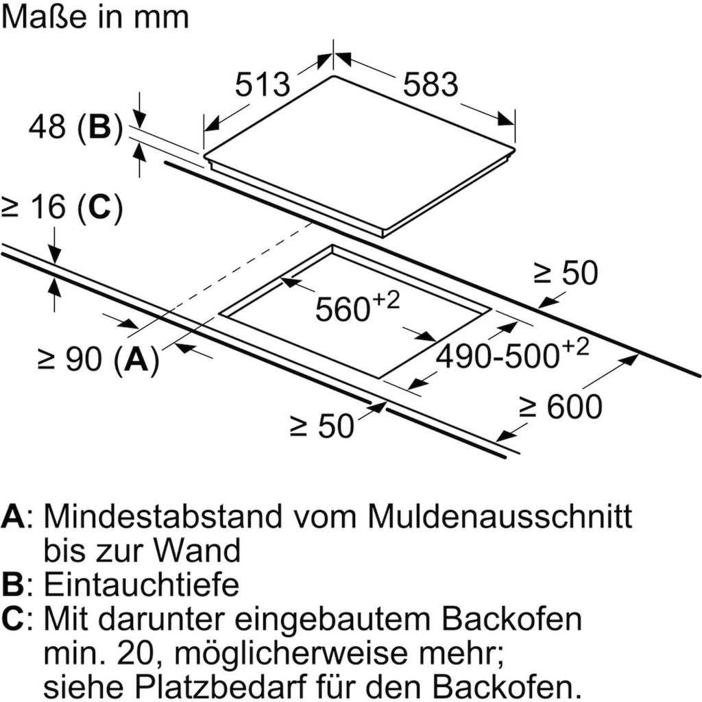 NEFF Backofen-Set B1CCC0AN0 + T36BB40N1, Teleskopauszug nachrüstbar