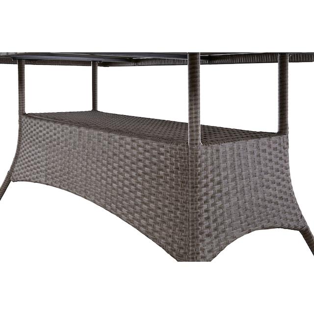 KONIFERA Gartenmöbelset »Mailand«, 19-tlg., 6 Sessel, Tisch 150x80 cm, Polyrattan