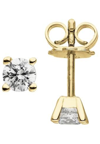 JOBO Paar Ohrstecker »Solitär«, 585 Gold mit 2 Diamanten Brillanten 0,50 ct. kaufen