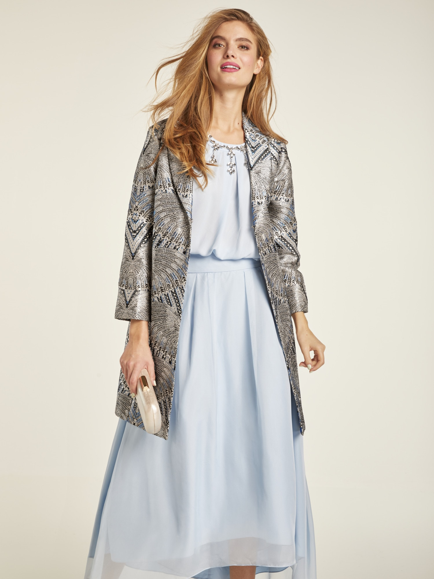 heine STYLE Longblazer aus Jacquard-Ware | Bekleidung > Blazer > Longblazer | Bunt | Polyester | Heine Style