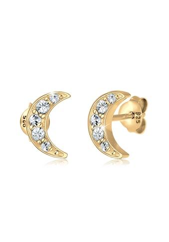 Elli Paar Ohrstecker »Halbmond Astro Kristalle 925 Silber« kaufen