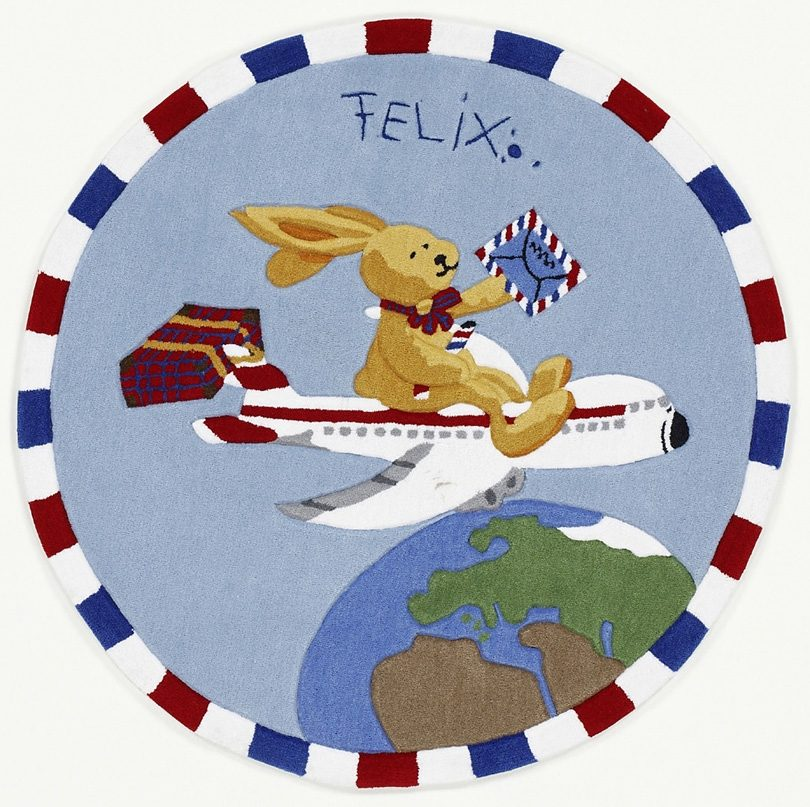 Teppich Felix der Hase FE-2934-01 Felix der Hase rund Höhe 10 mm handgetuftet