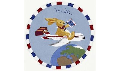 Felix der Hase Kinderteppich »Felix der Hase FE-2934-01«, rund, 10 mm Höhe, Konturenschnitt, brillante Farben kaufen