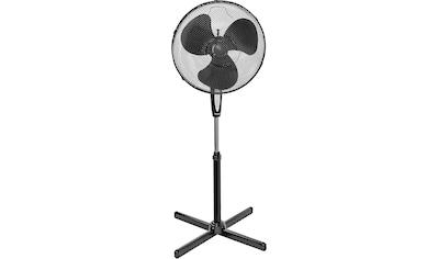 bestron Standventilator »mit Schwenkfunktion«, und Fernbedienung, Höhe: 122 cm, Ø 45 cm, 45 W, Schwarz kaufen
