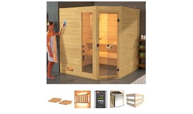 weka Sauna »Lars Eck 1«, 7,5 kW Bio-Kombiofen mit ext. Steuerung kaufen