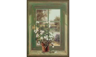 Home affaire Leinwandbild »A. Heins: Wildrosen am Fenster« kaufen