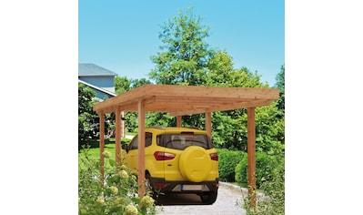 Kiehn-Holz Einzelcarport »Berlin«, Holz, 258 cm, natur kaufen