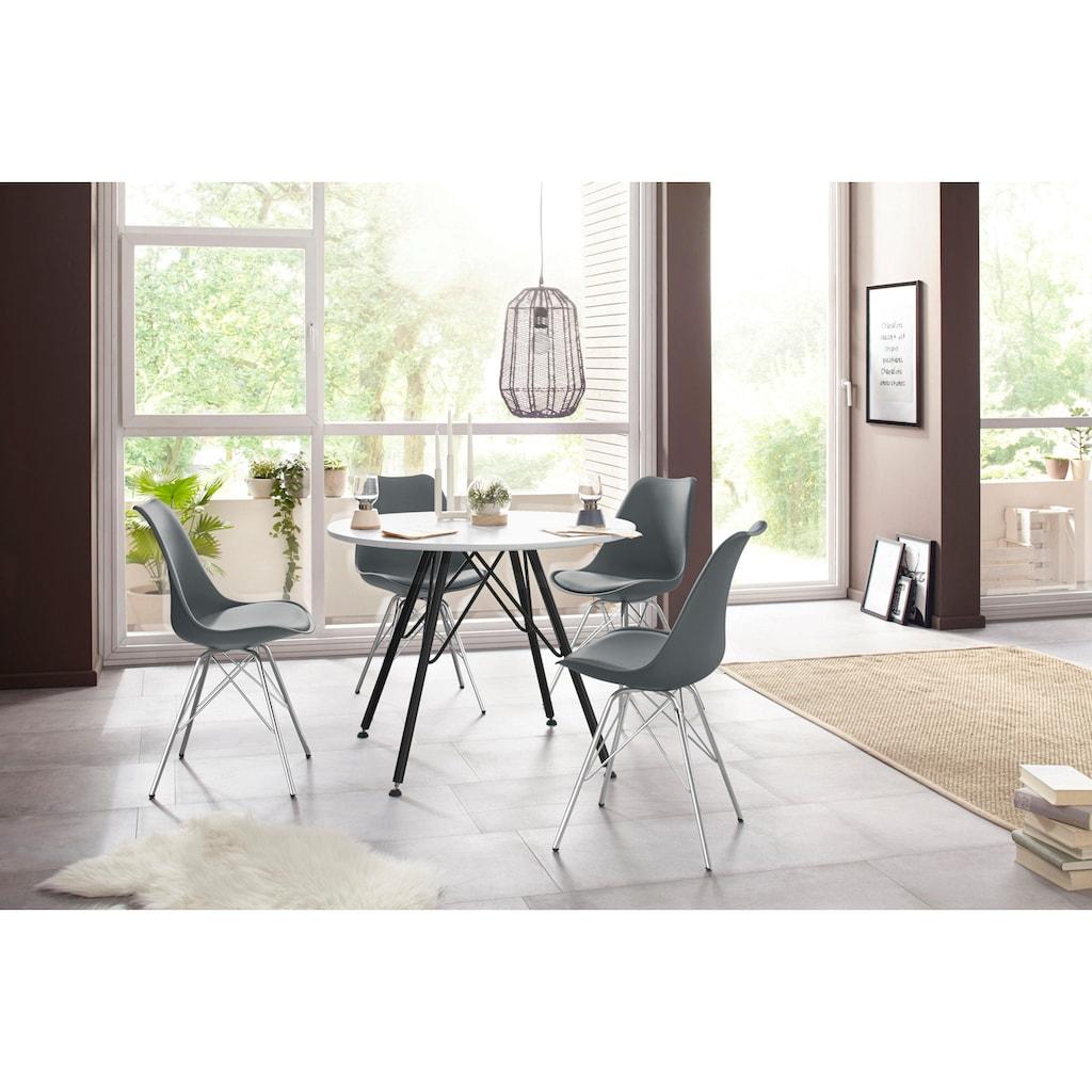 Homexperts Esszimmerstuhl »Ursel 03«, Sitzschale mit Sitzkissen in Kunstleder