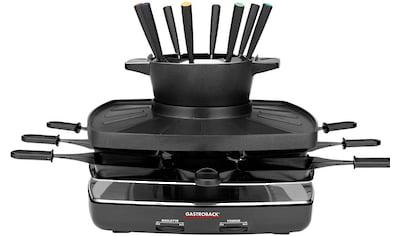 Gastroback Raclette und Fondue - Set 42567 Family and Friends, 8 Raclettepfännchen, 1200 Watt kaufen