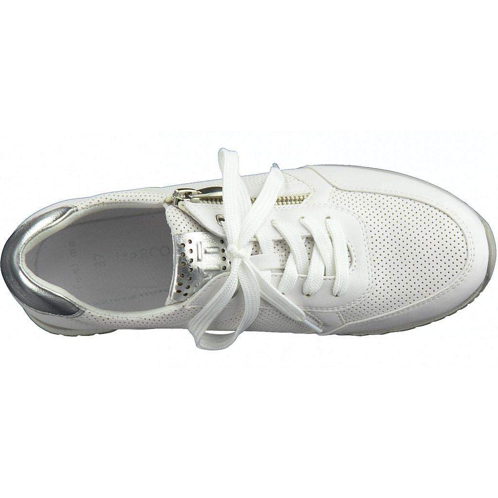 MARCO TOZZI Sneaker, mit feiner Perforation