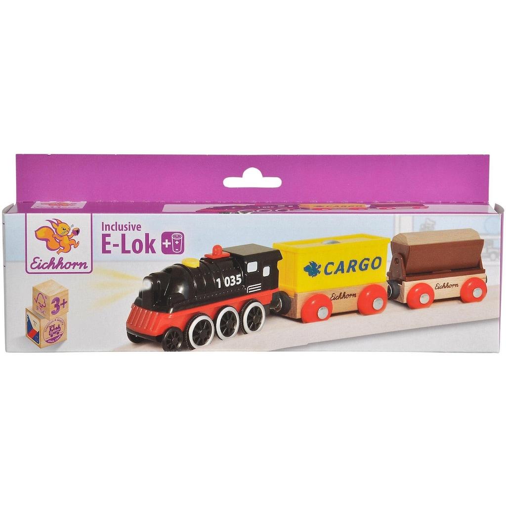 Eichhorn Spielzeug-Zug »E-Lok mit Wagon«, aus Holz, FSC®-Holz aus gewissenhaft bewirtschafteten Wäldern