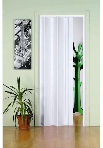 Falttür »Monica«, BxH: 83x204 cm, Weiß ohne Fenster kaufen