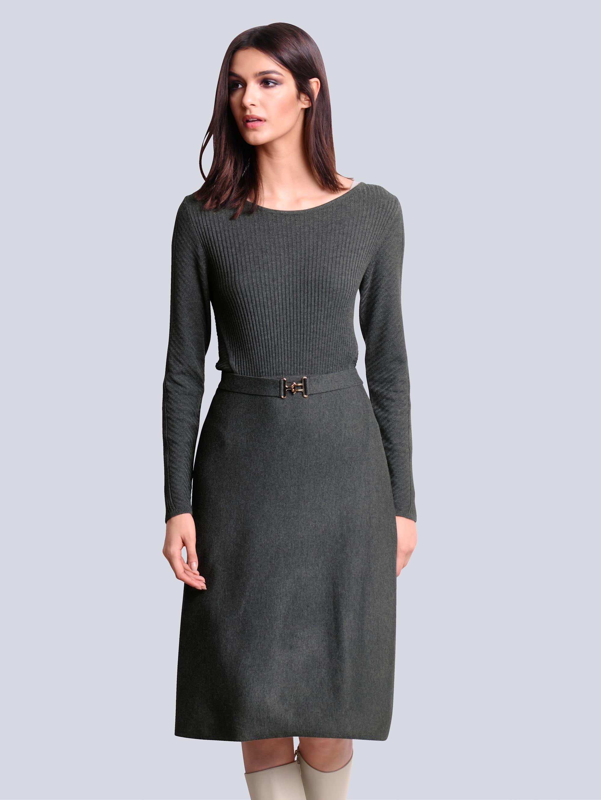 alba moda -  Strickkleid, mit Bindegürtel