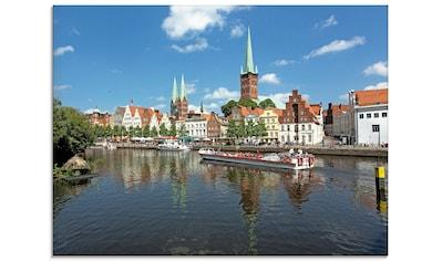 Artland Glasbild »Blick auf die Lübecker Altstadt« kaufen