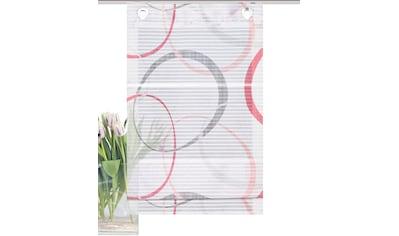 HOME WOHNIDEEN Raffrollo »VITUS«, mit Ösen, freihängend, Querstreifen Digitaldruck kaufen