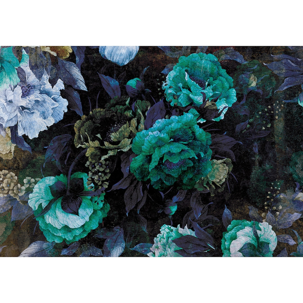 Consalnet Vliestapete »Grüner Blumen Mix«, floral