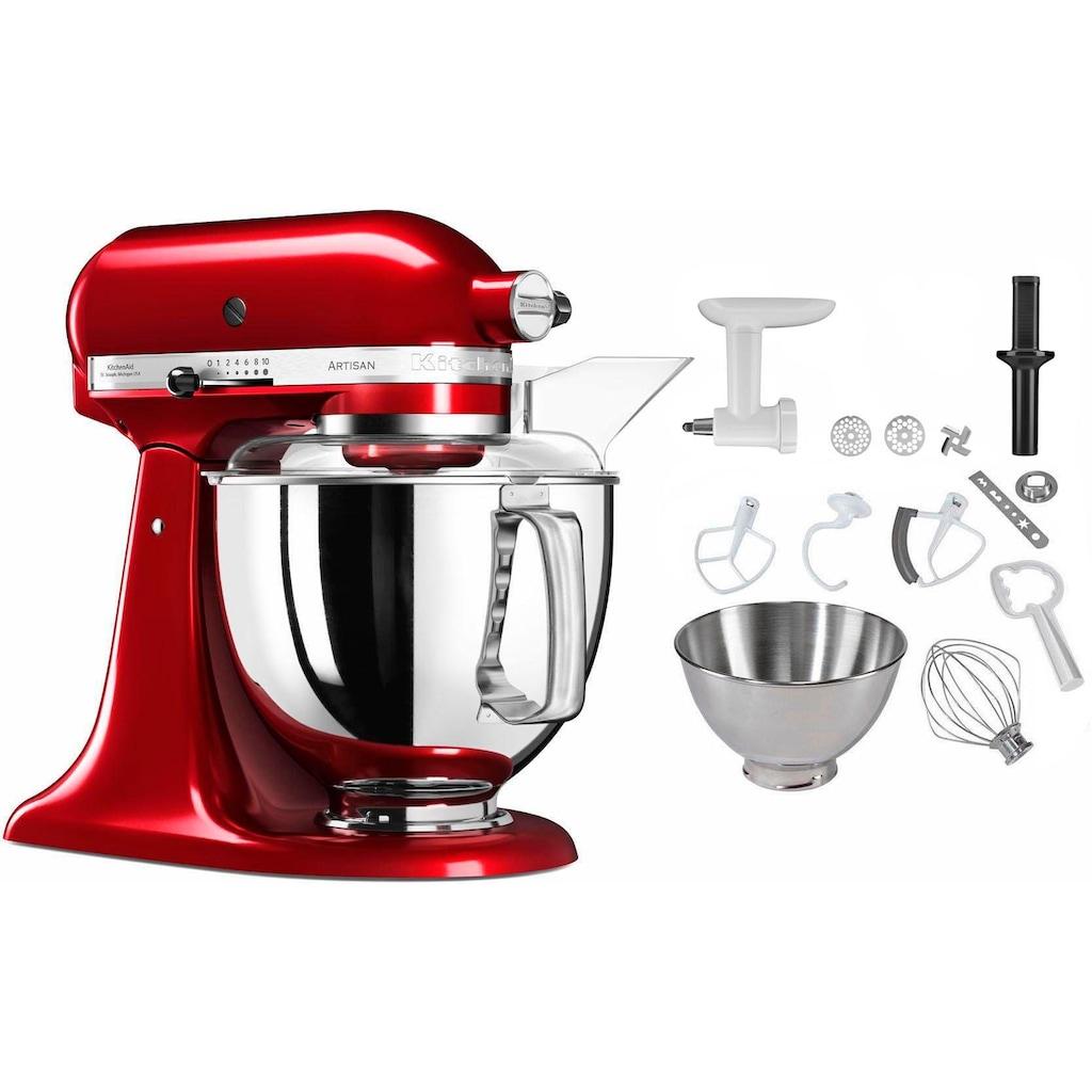 KitchenAid Küchenmaschine »5KSM175PSECA Artisan«, 300 W, 4,8 l Schüssel, inkl. Sonderzubehör im Wert von ca. 106,-€ UVP