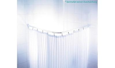Ridder Vorhangschiene »Comfort«, kürzbar, Eckstange für Duschvorhänge, Länge 90 cm kaufen