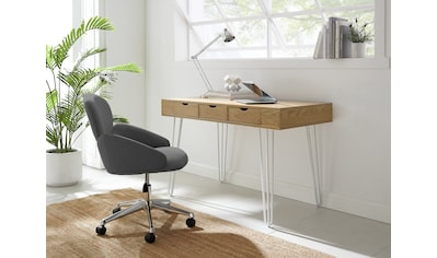 COUCH♥ Schreibtisch »In Höchstform«, Beine aus Metall, 3 Schubladen, Breite 120 cm kaufen