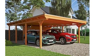 SKANHOLZ Doppelcarport »Emsland«, BxT: 613x846 cm, mit Abstellraum kaufen