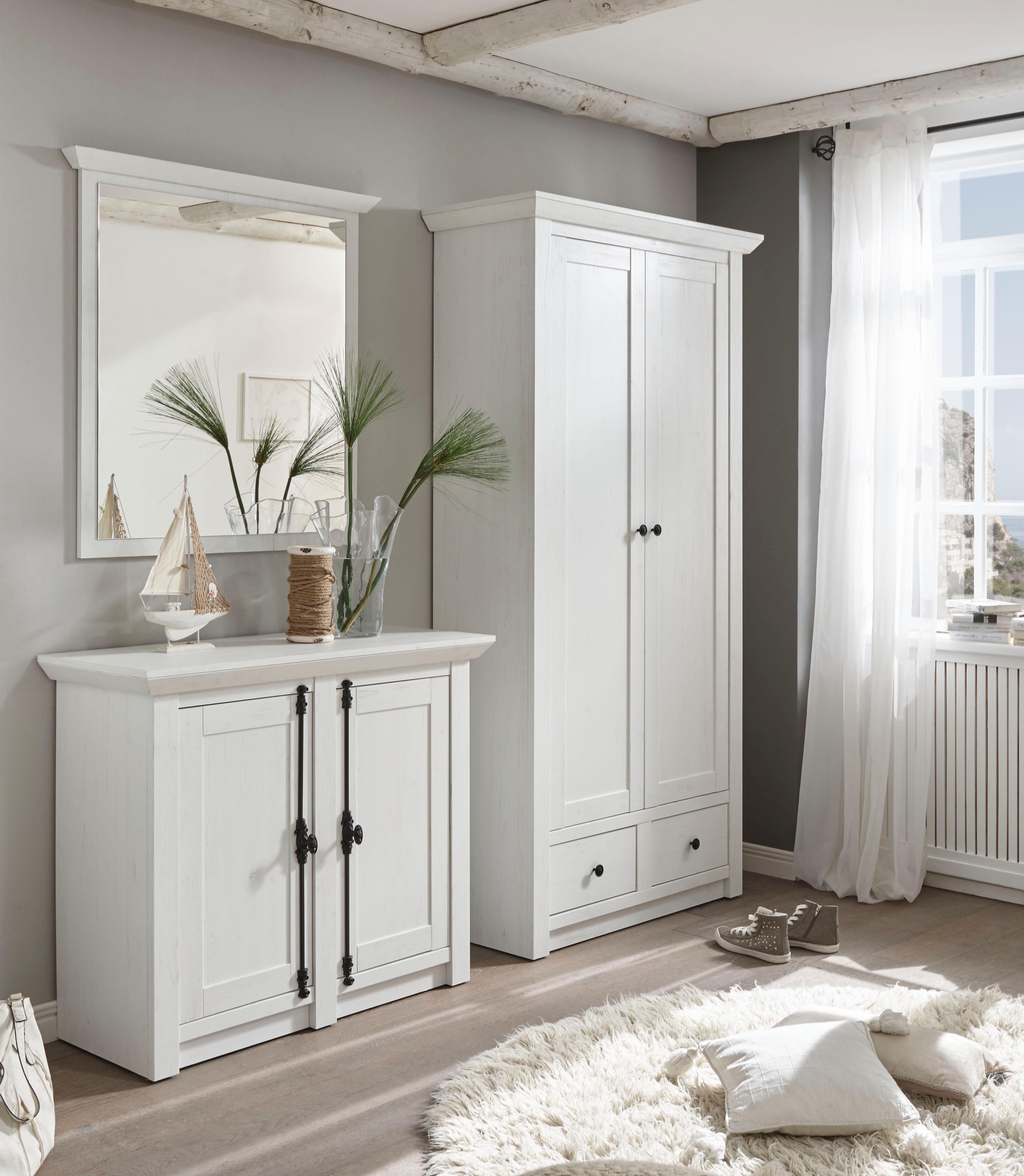 Garderoben set serie california 3 teiliges set 1 for Garderoben set mit spiegel