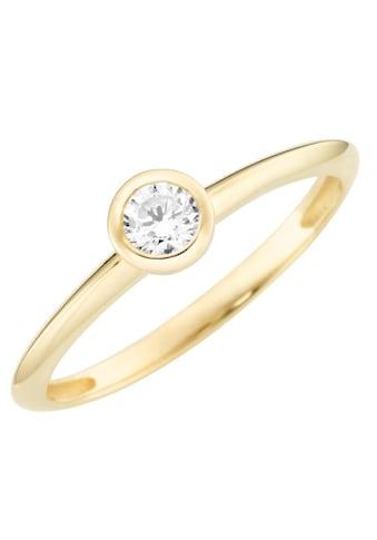Firetti Solitärring »Verlobungsring, Glänzend, massiv, Gelbgold« kaufen