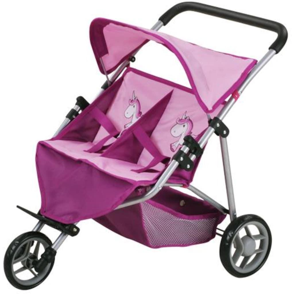 Knorrtoys® Puppenwagen »Duo - UMA. Das Einhorn«, für Zwillinge