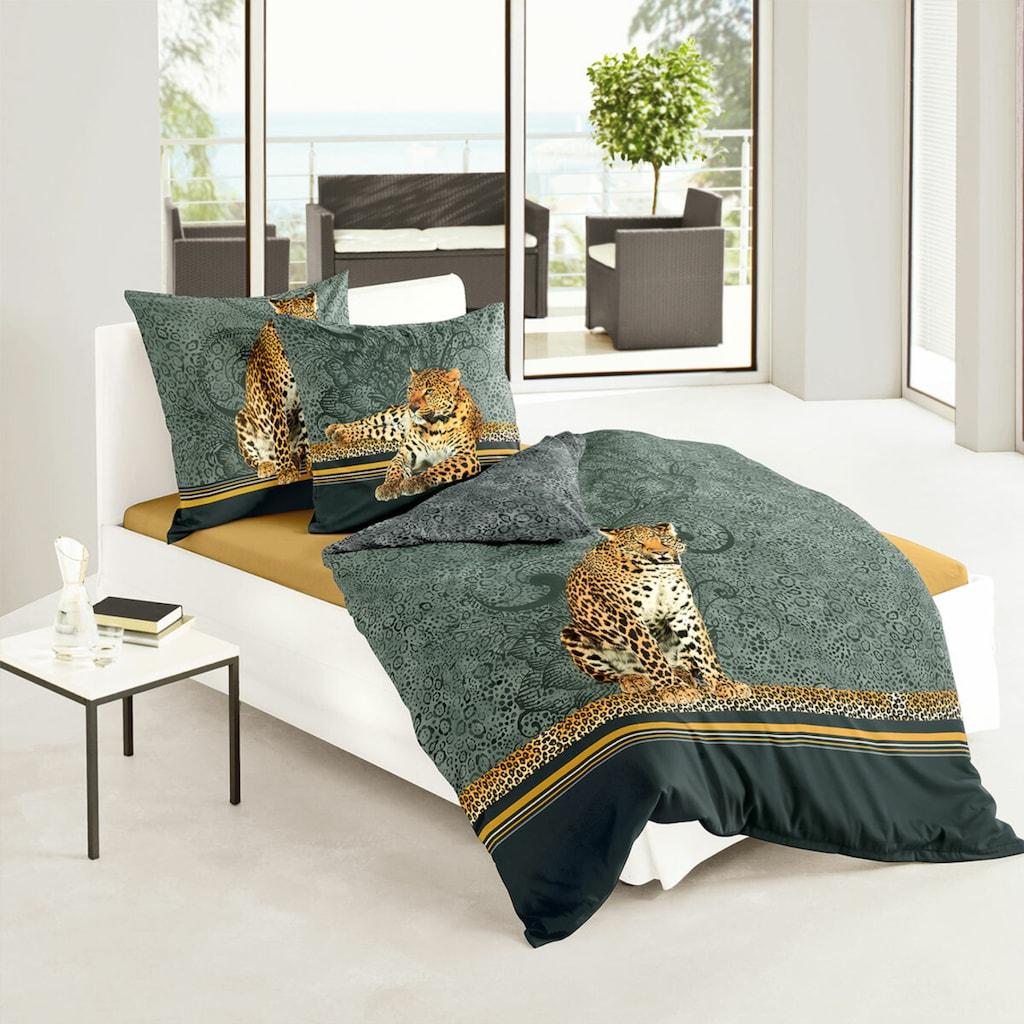 TRAUMSCHLAF Bettwäsche »Leopard«, edles Tiermotiv auf feinem Mako-Satin