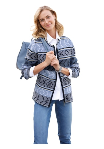 Casual Looks Strickjacke im Norweger - Dessin kaufen