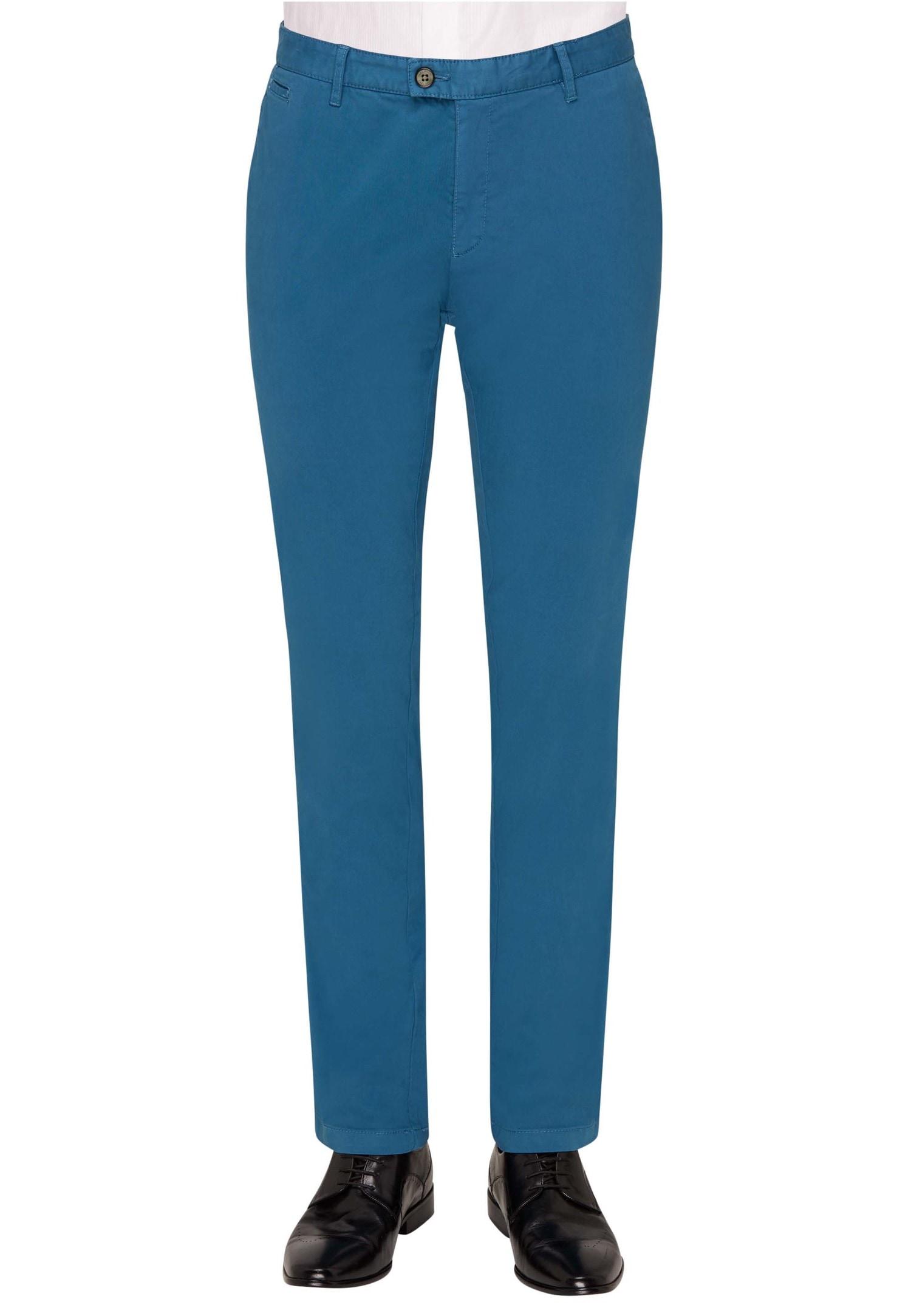 Carl Gross Hose aus elastischer Baumwolle CG Rene | Bekleidung > Hosen > Sonstige Hosen | Blau | carl gross