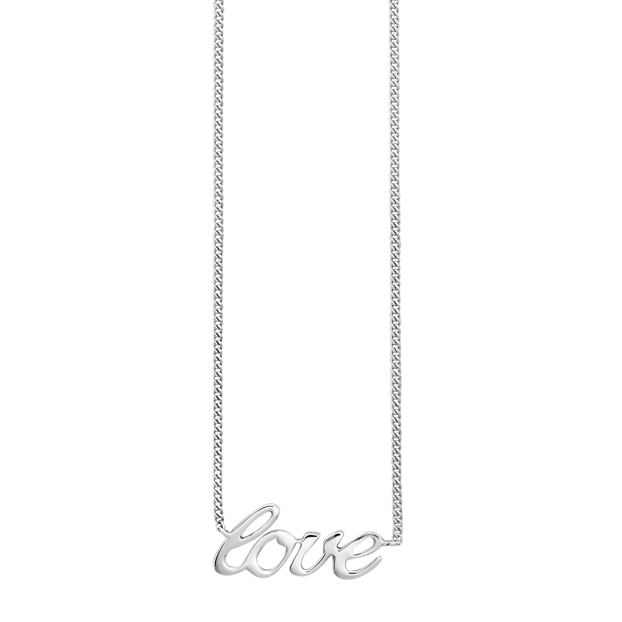 Cai Collier 925/- Sterling Silber rhodiniert LOVE | Schmuck | Weiß | Cai