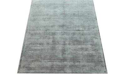 Paco Home Teppich »Glori 330«, rechteckig, 14 mm Höhe, handgefertigter Kurzflor, einfarbig meliert, Wohnzimmer kaufen