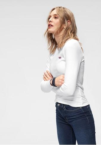 Levi's® Langarmshirt »Baby Tee«, Figurbetontes Langarmshirt kaufen
