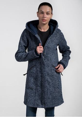 Polarino Strickmantel, mit großer kuscheligen Kapuze kaufen