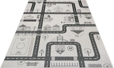 Lüttenhütt Kinderteppich »Henry«, rechteckig, 3 mm Höhe, Straßen-Spielteppich, In- und... kaufen
