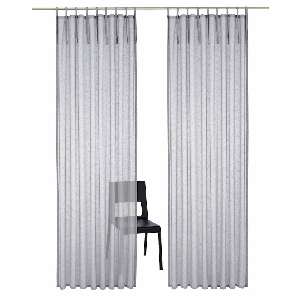 Home affaire Gardine »Hannah-Uni«, Vorhang, Fertiggardine, transparent