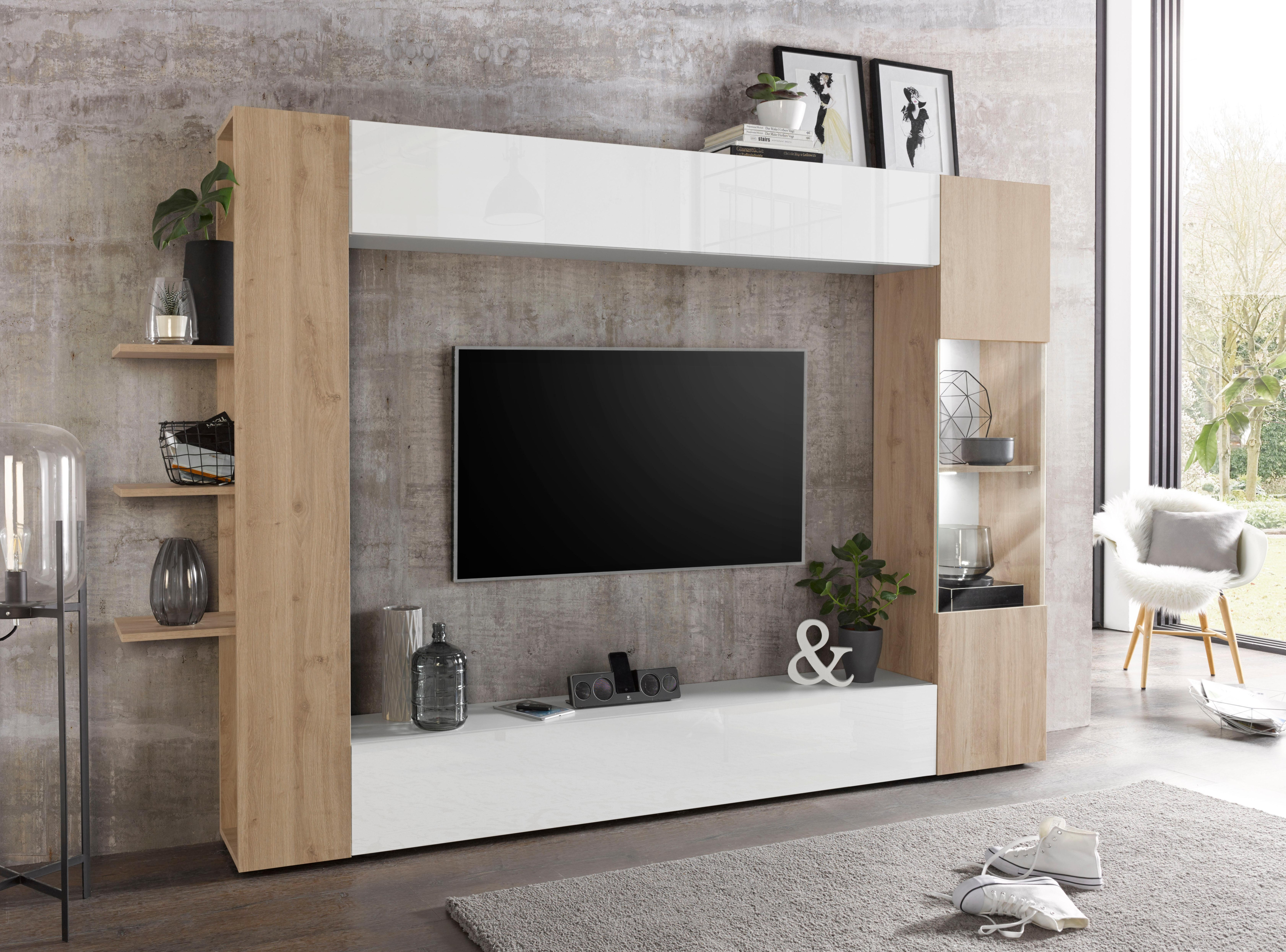 LC TV Wand »Sorano« (4 Tlg.) | Wohnzimmer U003e ...