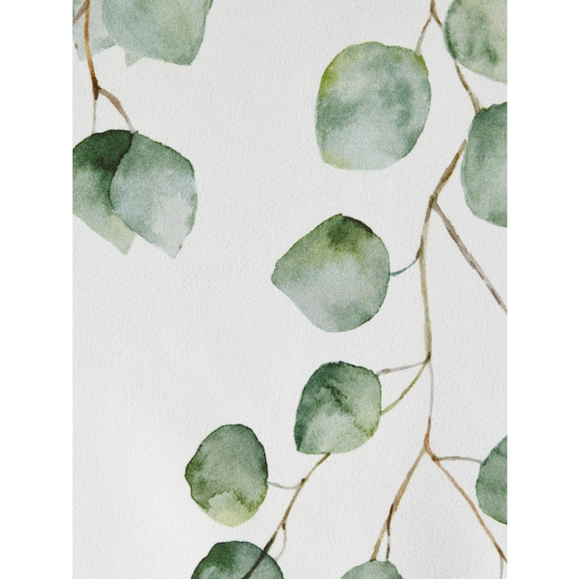 Dekostore mit trendigem Blättermotiv