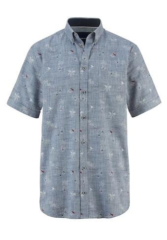 Babista Leinenhemd, garngefärbt und bedruckt kaufen