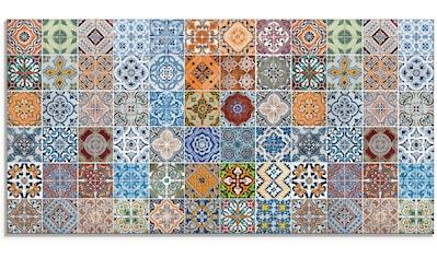 Artland Glasbild »Gemusterte Keramikfliesen«, Muster, (1 St.) kaufen