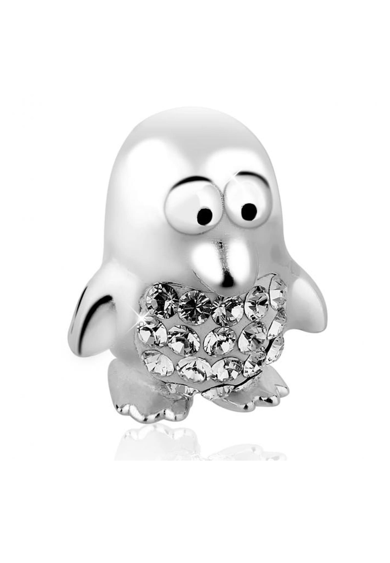 Nenalina Charm-Einhänger Pinguin-Anhänger Swarovski Kristalle 925 Silber | Schmuck > Charms > Charms Anhänger | Nenalina