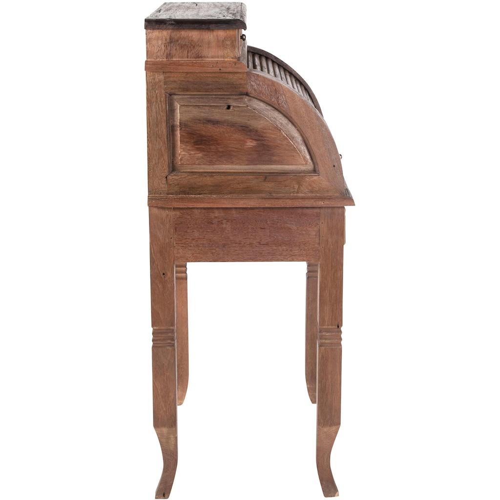 SIT Sekretär »Seadrift«, recyceltes Teak-Altholz, Breite 55 cm, Shabby Chic, Vintage
