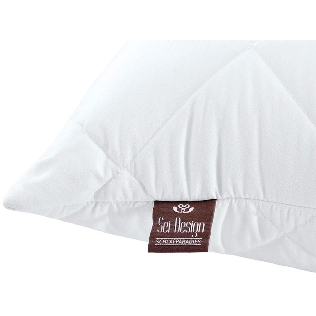 SEI Design Microfaserkissen »Classic Dream«, Füllung: 100% Polyester, Bezug: 100% Polyester, (4 St.), für Allergiker geeignet