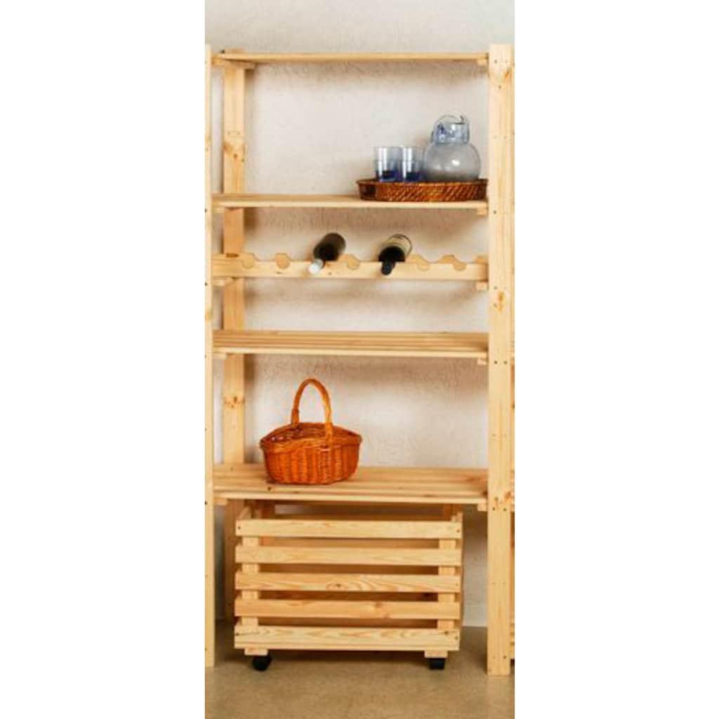 Anbauregal »Anbauregal mit 4 Böden, Holz-Allzweckregal«, B/T/H: 85x40x170 cm, mit 4 Böden