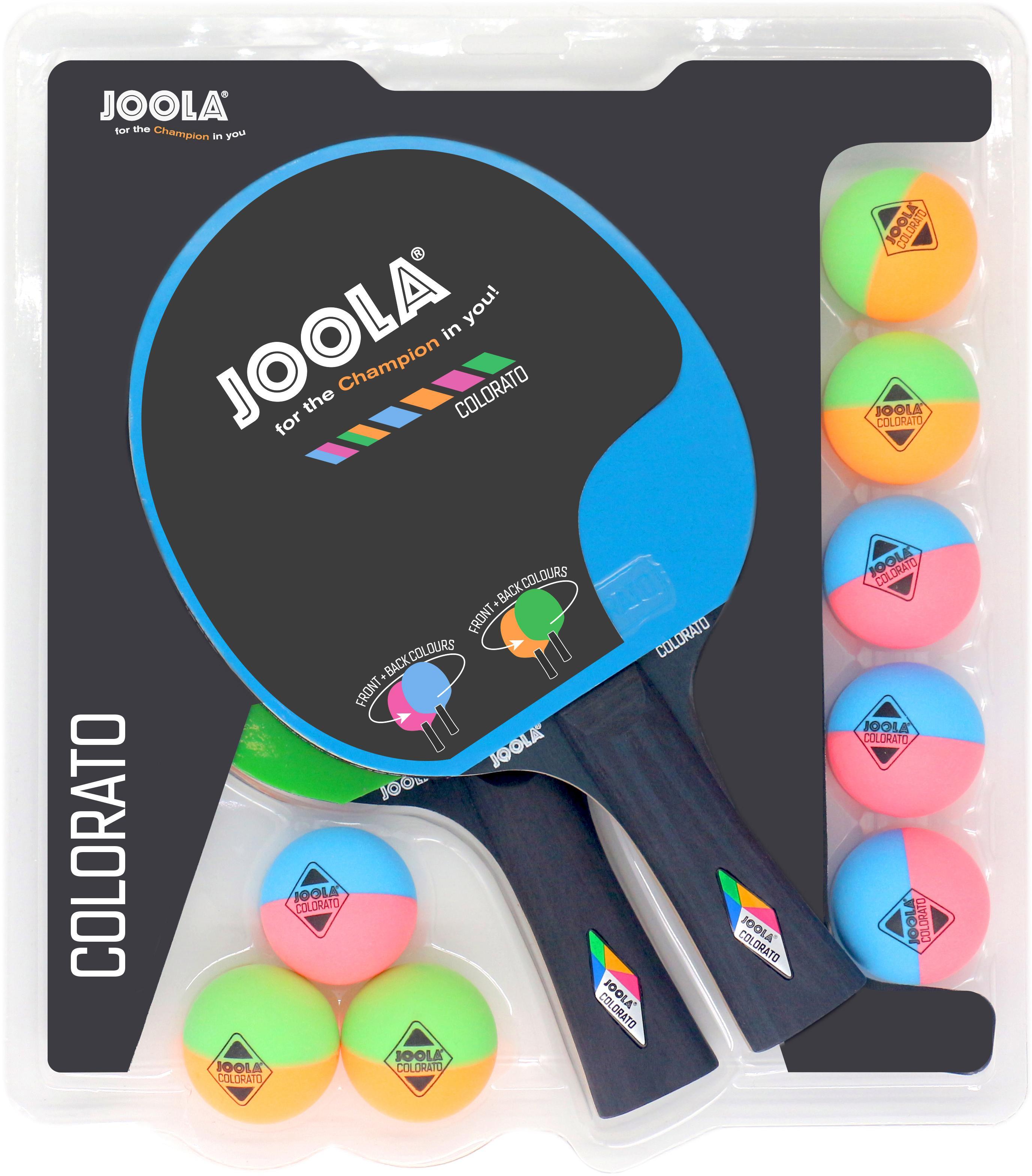 Joola Tischtennisschläger Tischtennisschlägerset-Colorato (Set 10-tlg) Technik & Freizeit/Sport & Freizeit/Sportarten/Tischtennis/Tischtennis-Ausrüstung