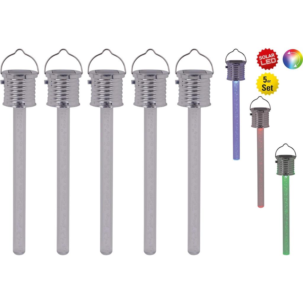 näve LED Gartenleuchte »THERMOMETER«, LED-Board, Set, 5 Stück